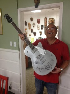 2013-11-27 - Habitat For Humanity Philippines support - signed guitar 1